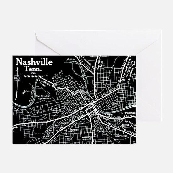 Vintage Nashville Black Greeting Card