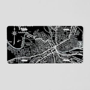 Vintage Nashville Black Aluminum License Plate