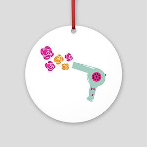 Hairdryer Ornament (Round)