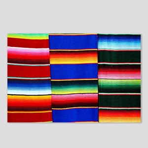Serape stripes Postcards (Package of 8)