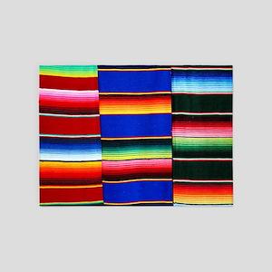 Serape stripes 5'x7'Area Rug