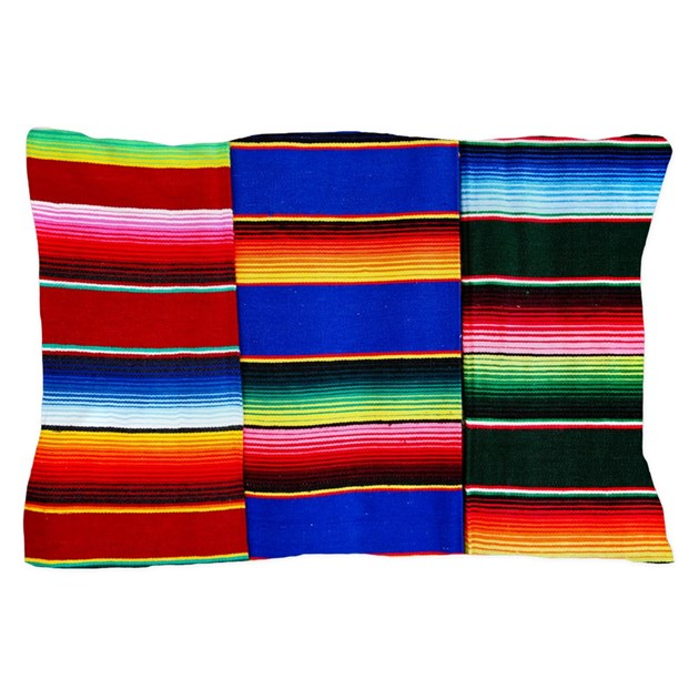 Serape Stripes Pillow Case By Ibeleiveimages