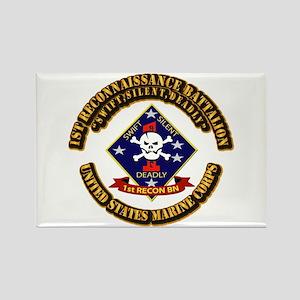 1st - Reconnaissance Bn With Text USMC Rectangle M