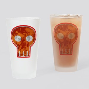 Orange Skull Drinking Glass