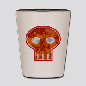 Orange Skull Shot Glass