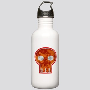 Orange Skull Water Bottle