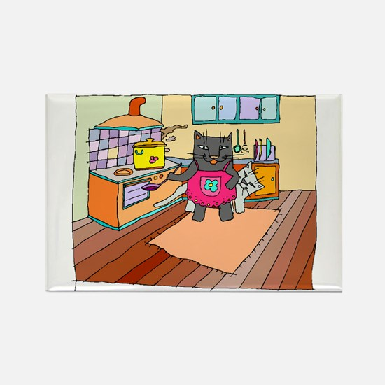 Cat Chef Rectangle Magnet