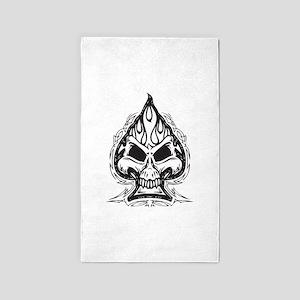 Skull Spade 3'x5' Area Rug