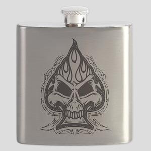 Skull Spade Flask