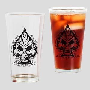 Skull Spade Drinking Glass