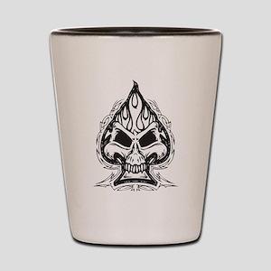 Skull Spade Shot Glass