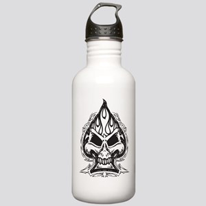Skull Spade Water Bottle