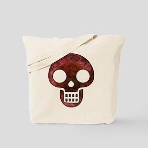 Textured Skull Tote Bag