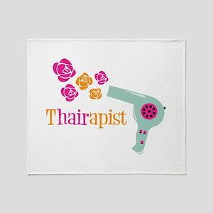 tHAIRapist Throw Blanket