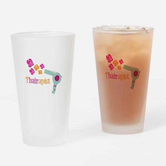 tHAIRapist Drinking Glass
