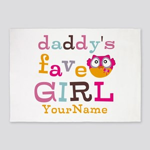 Daddys Favorite Girl Personalized 5'x7'Area Rug