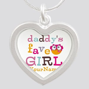 Daddys Favorite Girl Personalized Silver Heart Nec