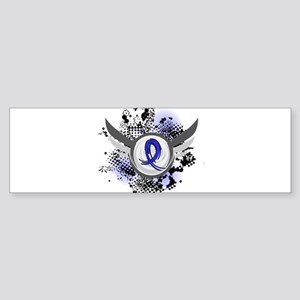 D Blue Ribbon With Wings Rheumatoid Arthritis Bump