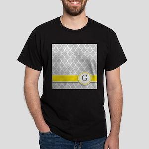 Letter G grey quatrefoil monogram T-Shirt