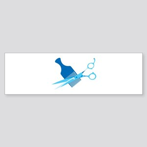 Scissors and Comb Bumper Sticker