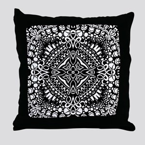 Intricate Cross Geometry  Throw Pillow