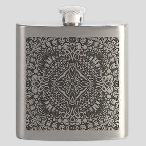 Intricate Cross Geometry  Flask