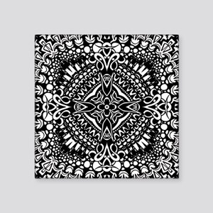 "Intricate Cross Geometry  Square Sticker 3"" x 3"""
