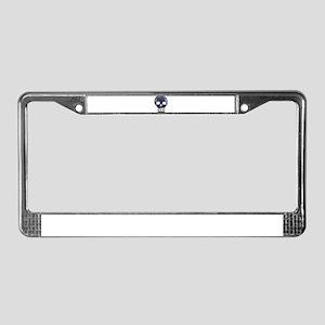 Textured Skull License Plate Frame