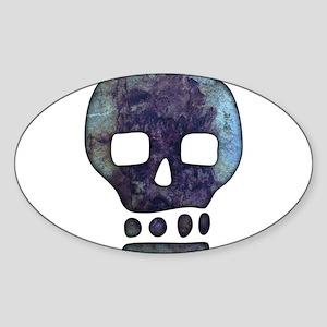 Textured Skull Sticker