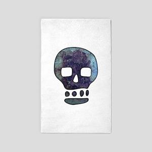 Textured Skull 3'x5' Area Rug