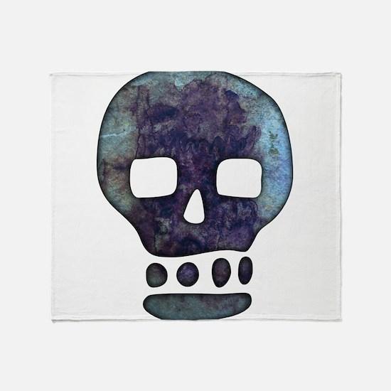 Textured Skull Throw Blanket