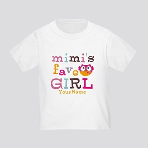 Mimis Favorite Girl - Personalized Toddler T-Shirt