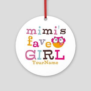 Mimis Favorite Girl - Personalized Ornament (Round