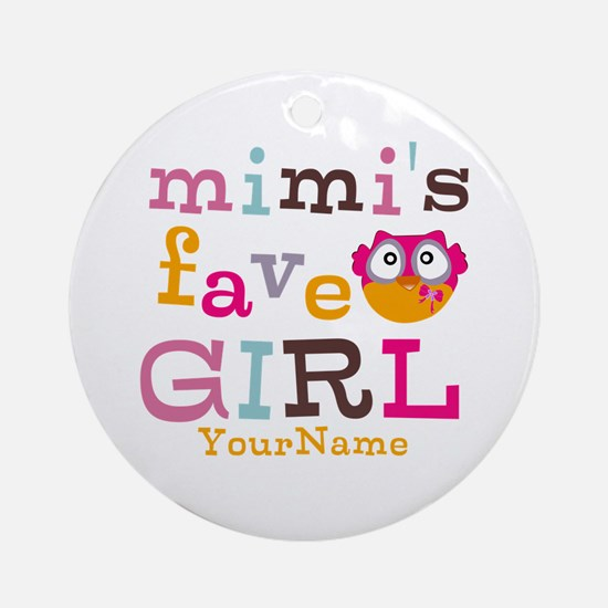 Mimis Favorite Girl - Personalized Ornament (Round