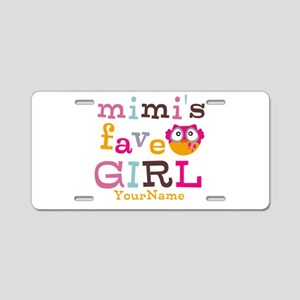 Mimis Favorite Girl - Personalized Aluminum Licens