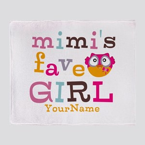 Mimis Favorite Girl - Personalized Throw Blanket