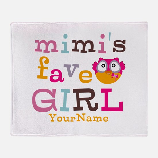 Mimis Favorite Girl - Personalized Throw Blanket