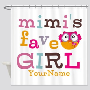 Mimis Favorite Girl - Personalized Shower Curtain