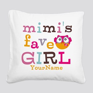 Mimis Favorite Girl - Personalized Square Canvas P