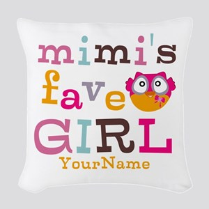 Mimis Favorite Girl - Personalized Woven Throw Pil