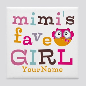 Mimis Favorite Girl - Personalized Tile Coaster