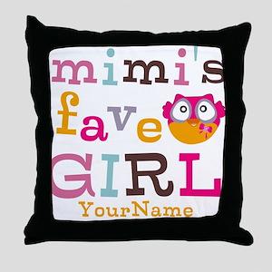 Mimis Favorite Girl - Personalized Throw Pillow