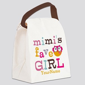 Mimis Favorite Girl - Personalized Canvas Lunch Ba