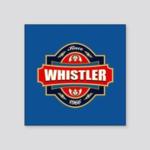 "Whistler Old Label Square Sticker 3"" x 3"""