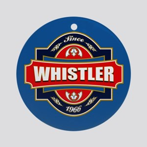 Whistler Old Label Ornament (Round)