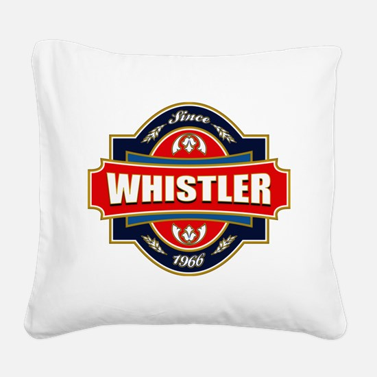 Whistler Old Label Square Canvas Pillow