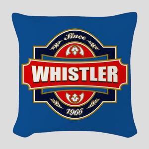 Whistler Old Label Woven Throw Pillow