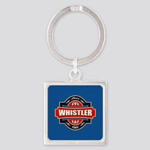 Whistler Old Label Square Keychain