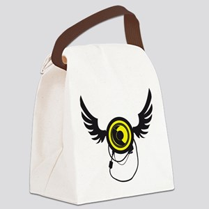 Winged Speaker Canvas Lunch Bag