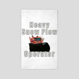 Heavy Snow Plow Operator 3'x5' Area Rug
